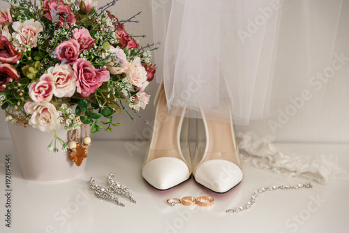 Bridal accessories for luxury wedding day Fototapete
