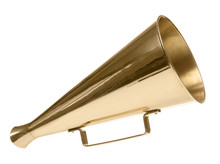 Vintage Megaphone On White Bac...