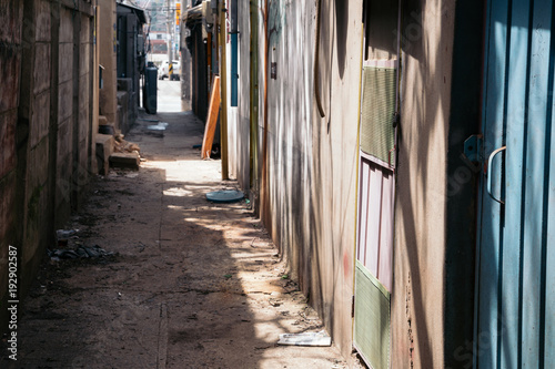 Poster Smal steegje Korean old narrow street