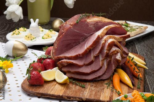 Fotografie, Obraz  Spicey Ham For Easter