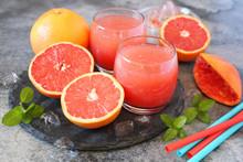 Fresh Grapefruit Pulp Juice In...