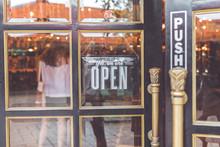 Open Vintage Sign Broad Throug...
