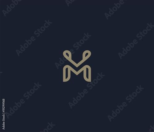 Obraz luxury letter M logo icon element - fototapety do salonu