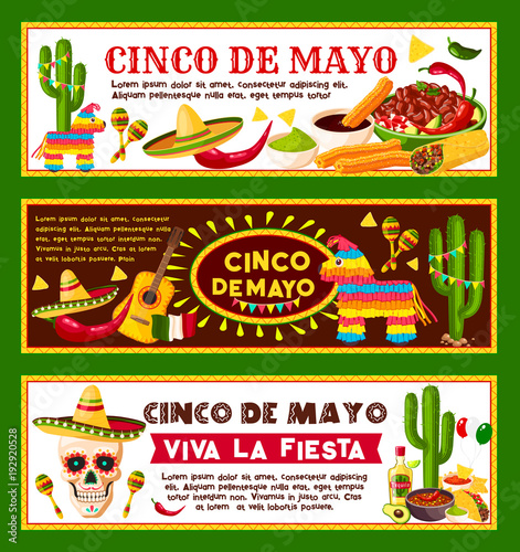 Mexican Vector Banners For Cinco De Mayo Holiday