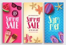 Summer Sale Vector Poster Desi...