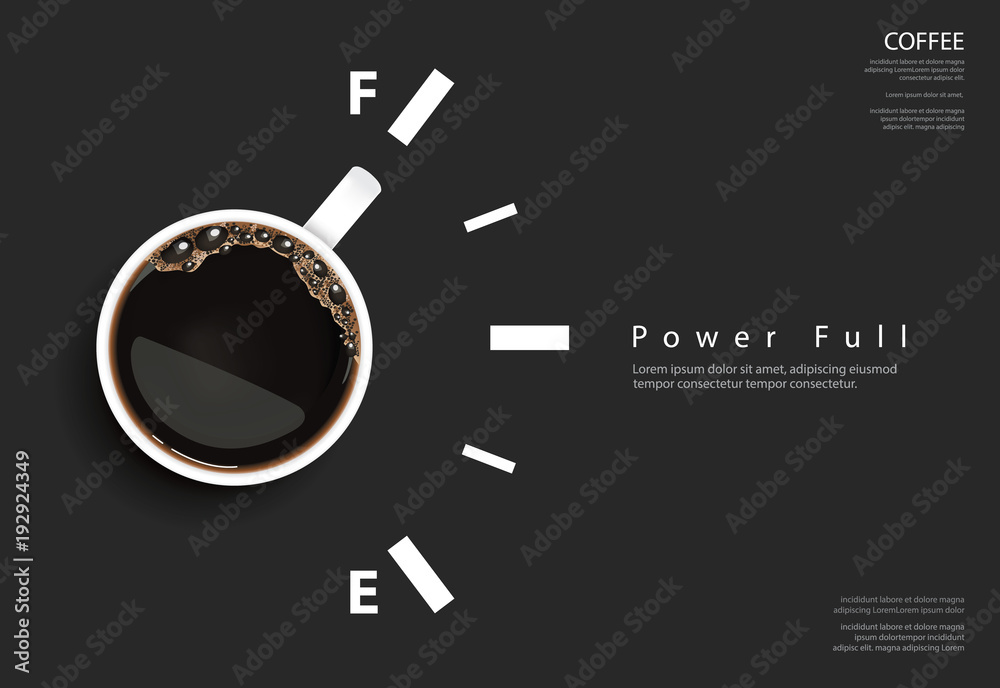 Fototapeta Coffee Poster Advertisement Flayers Vector Illustration