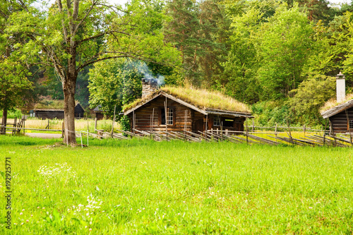 Keuken foto achterwand Schip Traditional old house in Oslo