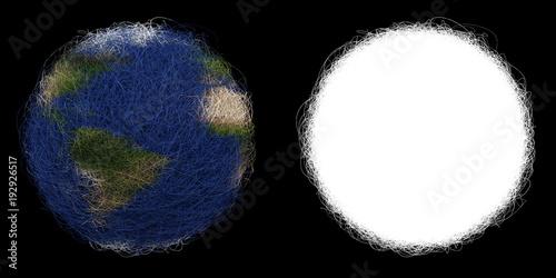 Photo  Hairball Earth Isolated