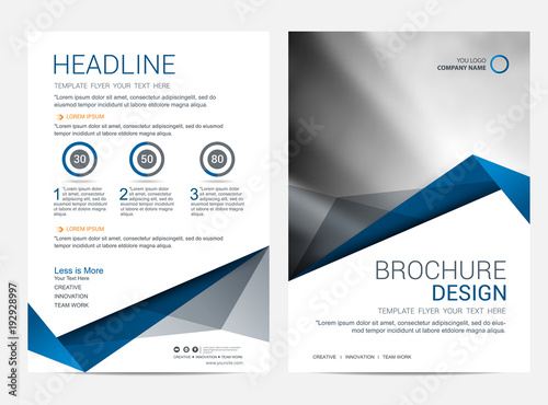 Brochure Template Flyer Design Vector Background Acheter Ce