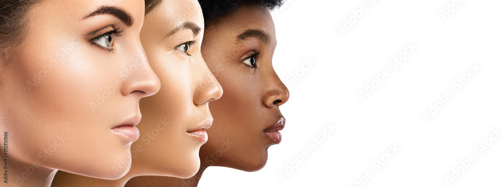 Fototapety, obrazy: Different ethnicity women - Caucasian, African, Asian.
