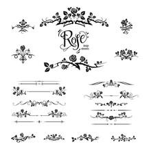 Elegant Black Roses Design
