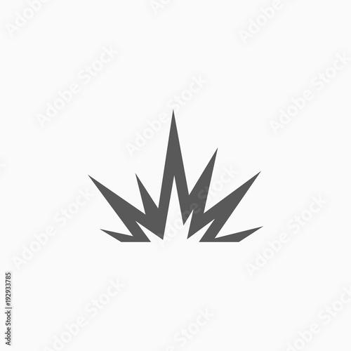 Tablou Canvas explosion icon