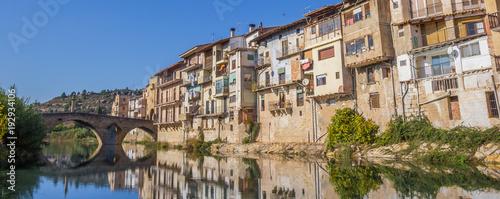 Платно Panorama of medieval city Valderrobres in Aragon