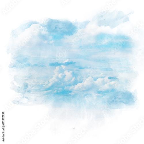 niebieskie-niebo-z-biel-chmura