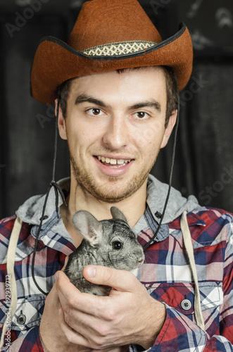 Portrait of a Cowboy. dark hair ab645e12285
