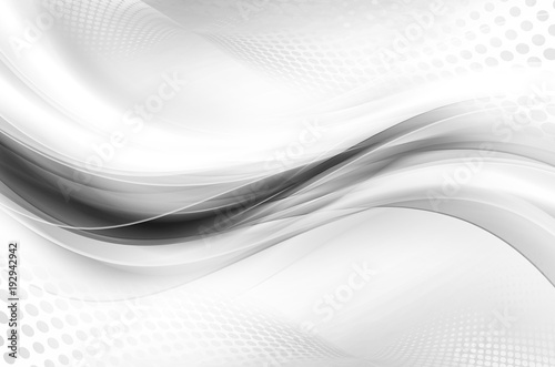 Poster Abstract wave Gray White Bright Waves Design Abstract Wallpaper Halftone Raster Background