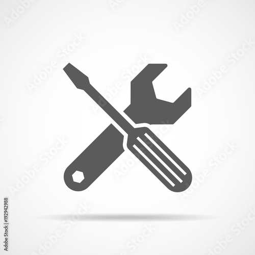 Fototapeta Wrench and screwdriver icon. Vector illustration