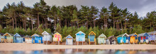 Beach Hut Row On The Norfolk Coast