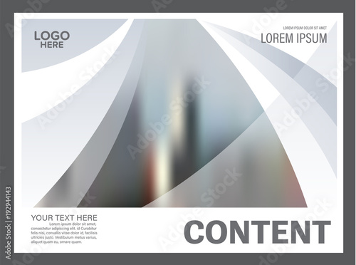 Poster Abstract wave Black and white flyer design template. Annual Report Leaflet cover Brochure Layout. Presentation Modern background. illustration vector in A4 size