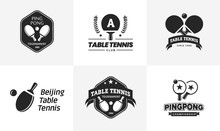 Set Of Vintage Table Tennis Lo...