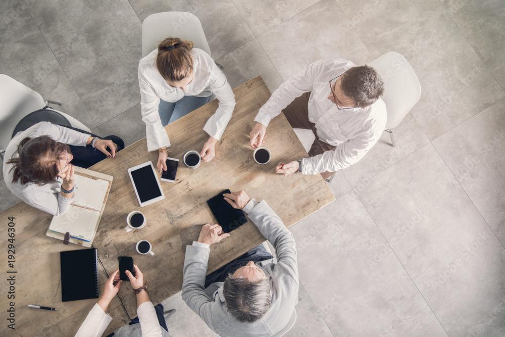 Fototapeta Working table, business meeting