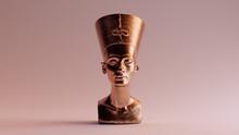 Polished Egyptian Brass Bust O...