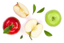 Red And Green Apples With Slic...