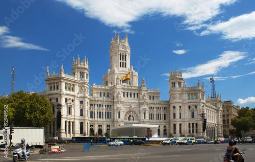 In de dag Madrid Cibeles Palace In Madrid, Spain