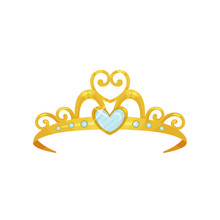 Golden Princess Tiara. Beautif...