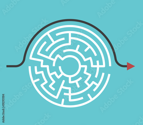 Obraz Circular maze, bypass route - fototapety do salonu