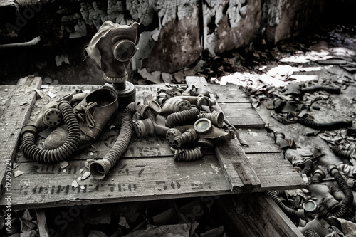 Photo Cassa di maschere antigas a Chernobyl