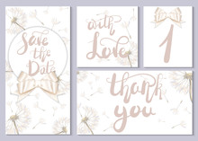 A Set Of Wedding Cards And Inv...