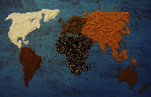 Map Of World Made From Differe...