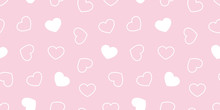 Heart Isolated Valentine Seamless Pattern Cartoon Doodle Vector Wallpaper Background Pink