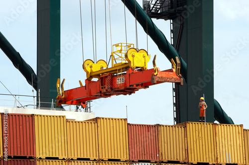Containers to be shipped