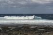 Ocean surf waves at La Santa, Lanzarote, Canary Islands, Spain