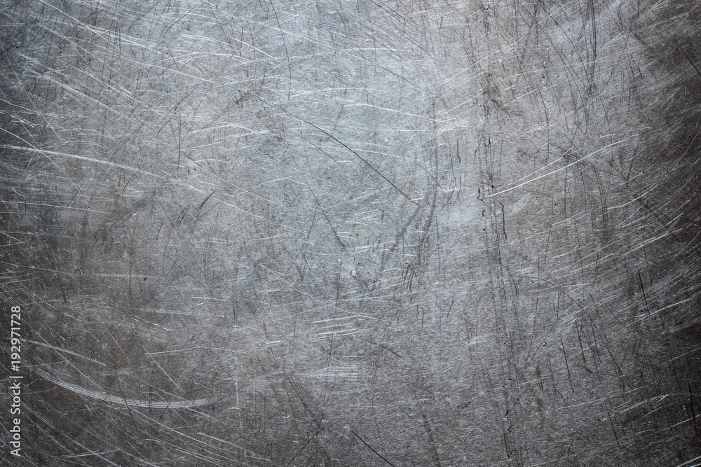 Fototapety, obrazy: Grunge background of stainless steel, metal texture closeup