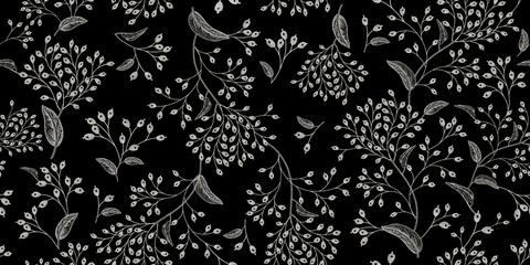 Panel Szklany Vintage Natural vintage seamless pattern.