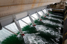 Hydroelectric Staion In A Storm Barrier In The Eastern Scheldt Netherlands