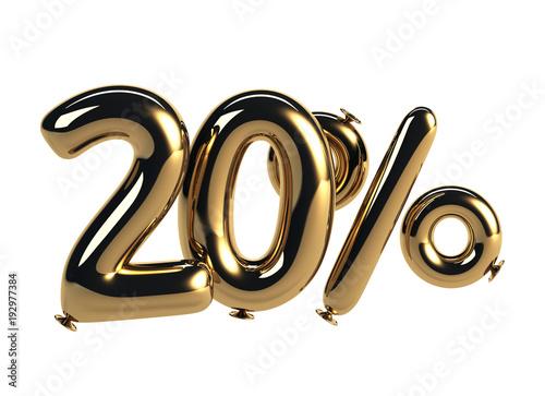 Cuadros en Lienzo 20% discount made of Golden Balloons