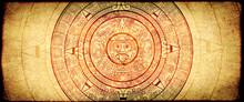 Grunge Background With Aztec C...