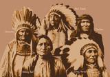 chef indien - portrait - personnage célèbre -Amérique - guerrier - célèbre - visage