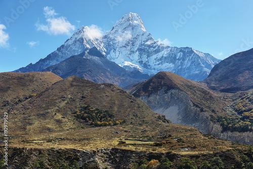 Plakat Widoki na góry Ama Dablan