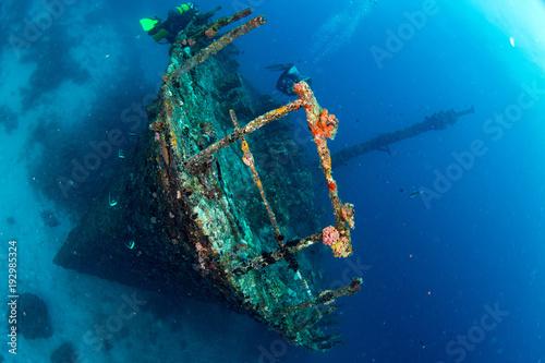 Poster Naufrage Ship Wreck in maldives indian ocean