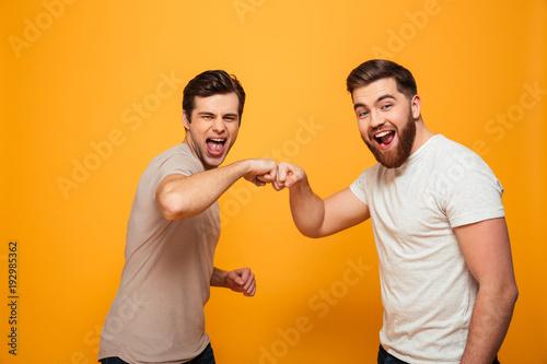 Canvastavla Portrait of a two joyful young men