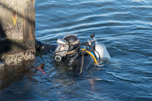 Industrial Diver With Scuba Ge...