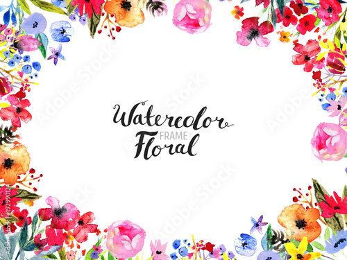Photo  Watercolor Floral Background