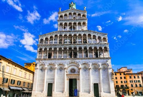 basilica San Michele in Foro -important religious site in Lucca Canvas Print