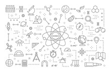 Science Line Illustration.