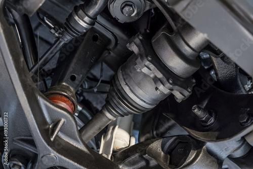 Fotografía  Car suspension with control arm